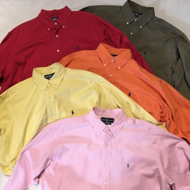 明日9/7(月)は店休日になります。Ralph Lauren L/S Shirt [BLAKE]